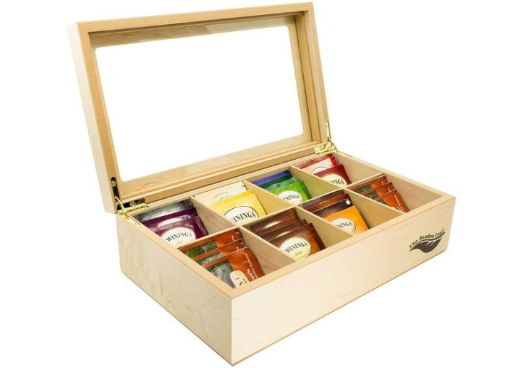 Wooden Tea Box Storage Chest