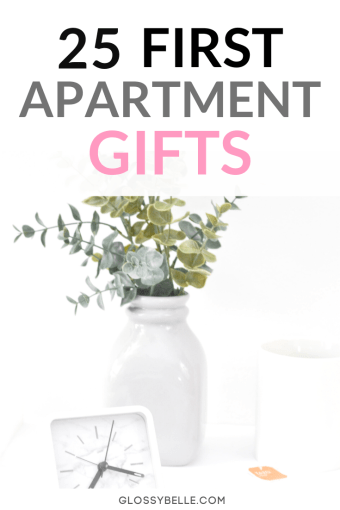 Moving out can be a stressful time but thinking of first apartment gifts to welcome them into their new home shouldn't be! Here is a list of 25 practical housewarming gifts perfect for first time homeowners. | first apartment essentials | first home | best housewarming gifts for first home | personalized housewarming gifts | gift ideas for new homeowners | gifts for new apartment | housewarming gift ideas | gift ideas for a new apartment | move in gifts | adulting | housewarming gift baskets