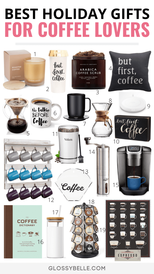 Looking for the best gift ideas for coffee lovers? Here is the ultimate list of the best coffee gifts this holiday season that your friends and family will love. | best gifts for coffee lovers | coffee lovers gift set | gifts for coffee drinkers | coffee tools | coffee accessories | great gift for coffee lovers | holiday gift guide | coffee presents | presents for coffee lovers | Christmas gifts | Christmas gift guide