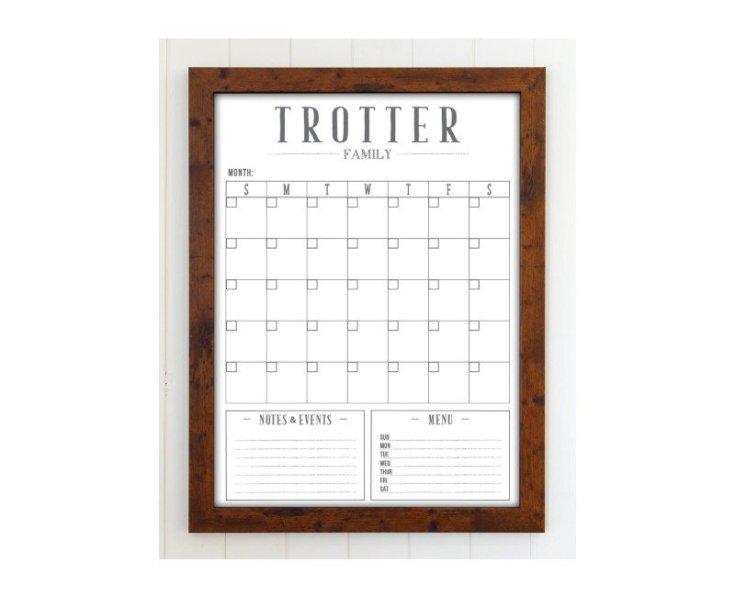 Personalized 2020 Reusable Calendar