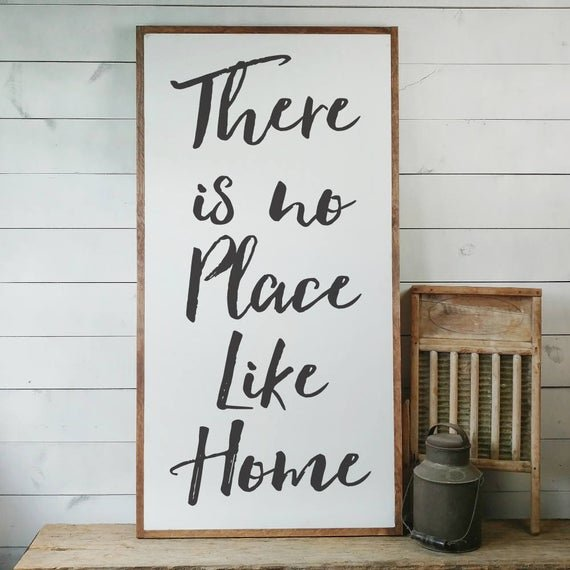 There is No Place Like Home Sign