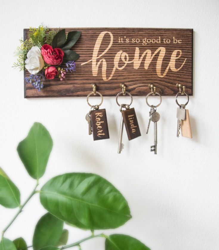 It's Good To Be Home Wall Key Holder