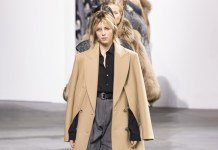 Edie Campbell walks Michael Kors fashion show 2017