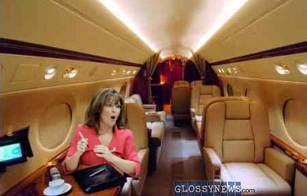 Image result for sarah palin jet plane