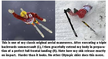 Winter Olympics - in air and landed