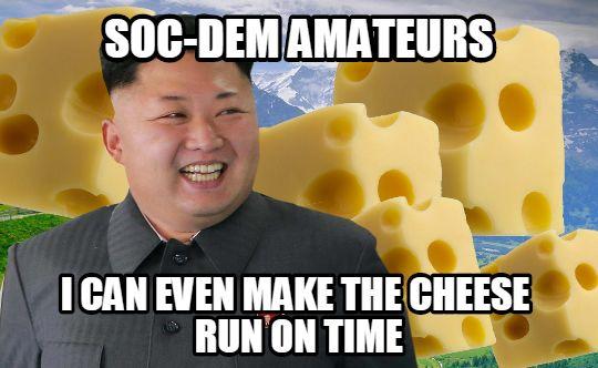 kim jong-un cheese meme