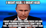 Putin Non-Traditional Musical Parody: I Want KGB! (With Apologies to Queen & Vlad)