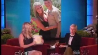 Ellen Gives Back To A Military Wife In Need Apr 08 2013