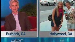 Ellen Surprises Walk of Fame Tourists Sept 26 2012