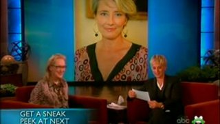Meryl Streep Kisses And Tells Jan 12 2012