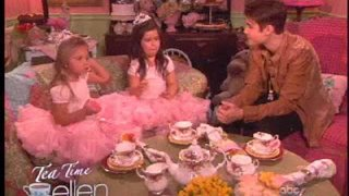 Sophia Grace & Rosie's Tea Time With Justin Bieber Sept 14 2012