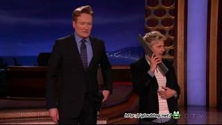Ellen DeGeneres Surprises Conan's Audience Dec 16 2014