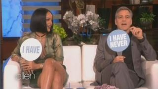 George Clooney & Rihanna Play Never Have I Ever Feb 04 2016