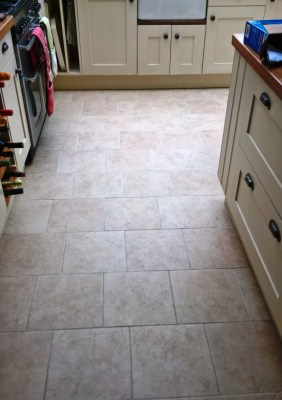 Ceramic Tiled Floor Westmancoate after cleaning