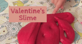 valentines day craft, red slime recipe