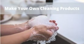 make your own antibacterial spray, make your own hand gel, make your own toilet cleaner