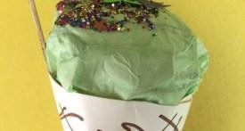 papercraft cone, papercraft ice cream cone, make a pretend ice cream cone
