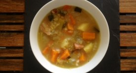 rustic winter broth, rustic winter soup