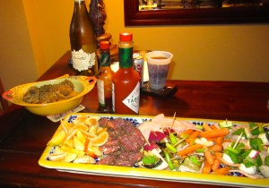This recent game room and movie smorgasbord included Boudin with its requisite accompaniment, Tabasco