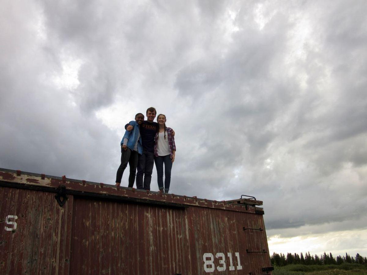 Trio on the Train