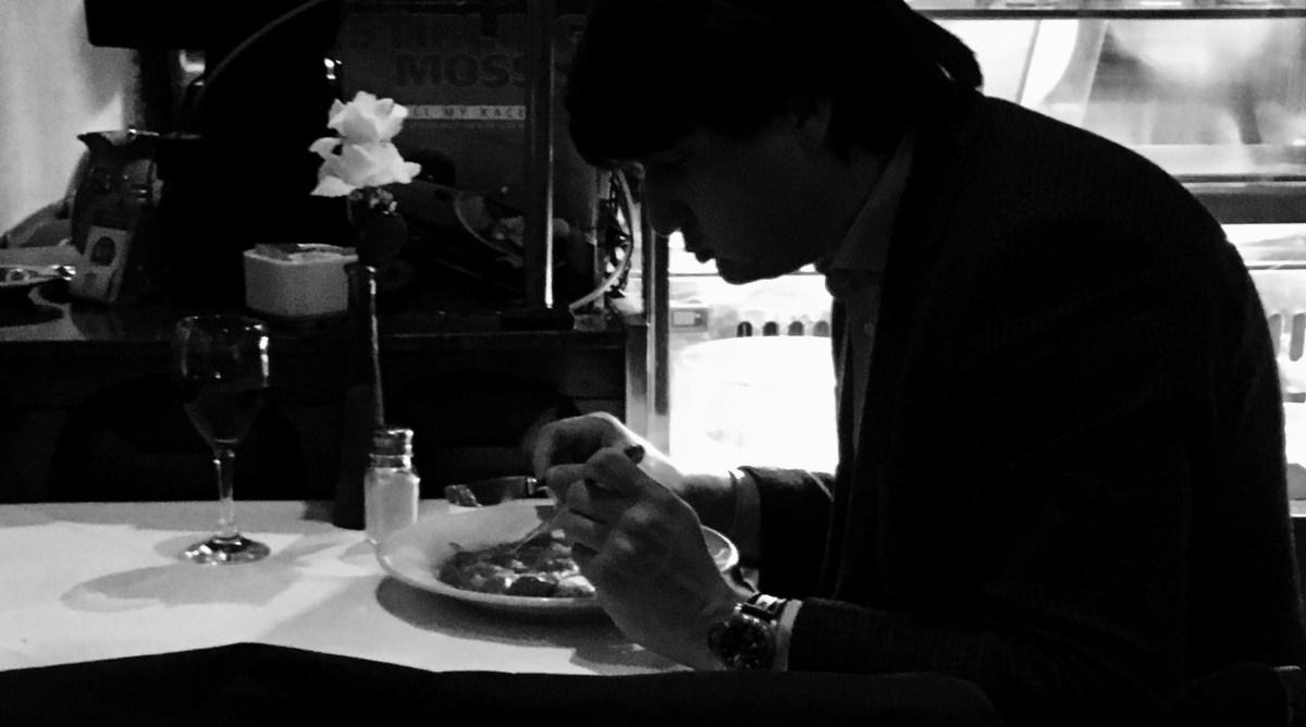 Man Eating Alone at Da Corradi