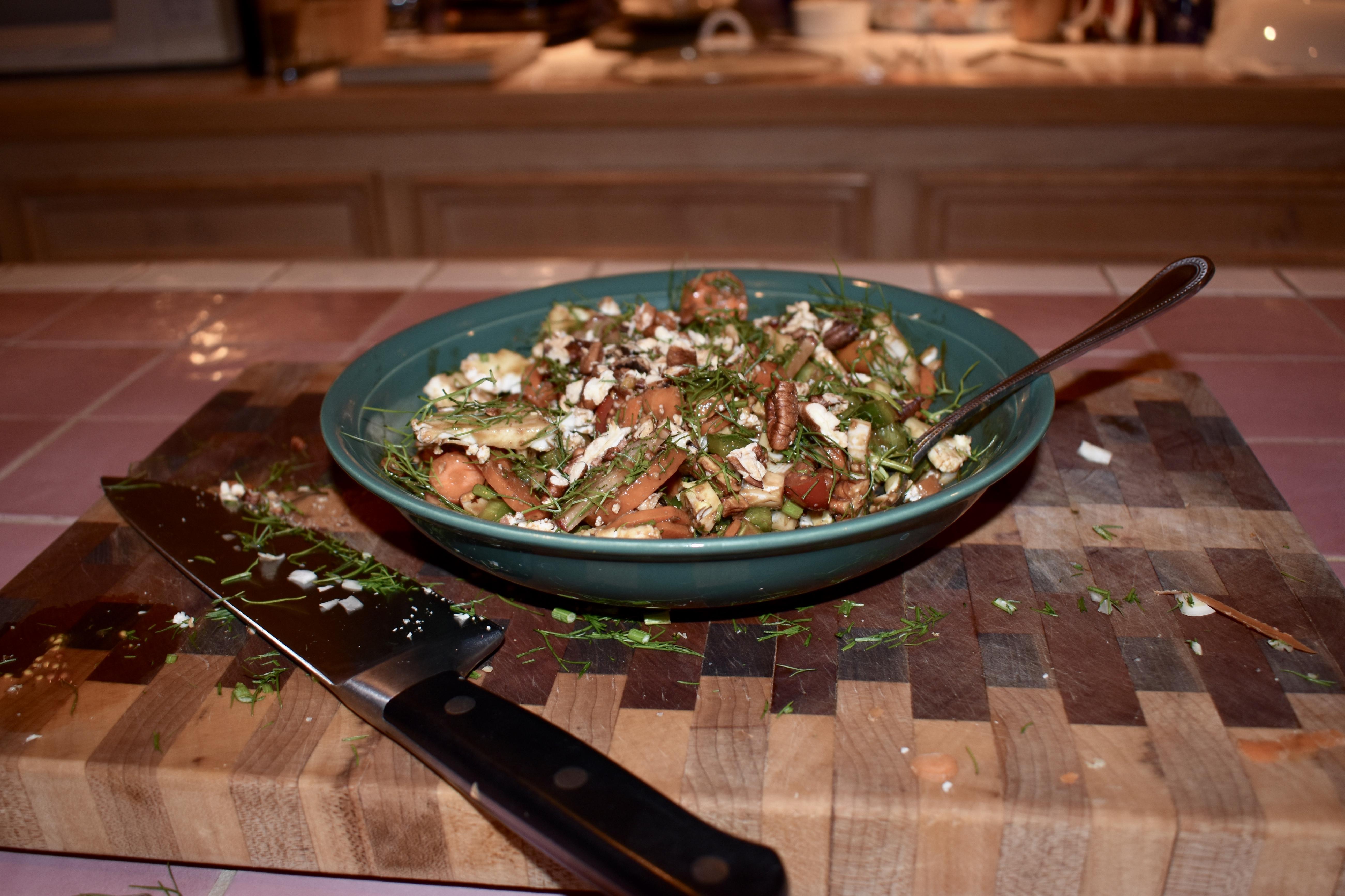 Root Vegetable Salad with 3-1-2 Balsamic Honey Dijon Dressing