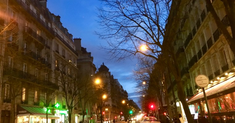 Haiku: Random Street in the City of Lights at Dusk