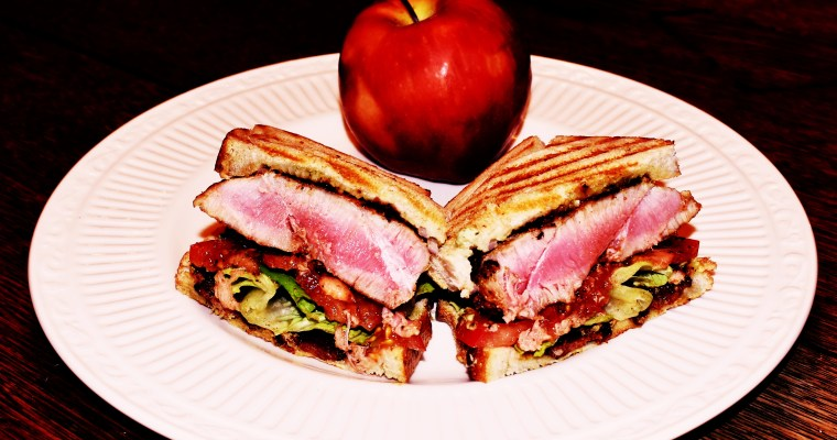 Sandwich Wednesday: The Grill-Meister's Tuna Steak BLT Panini (the TBLT)