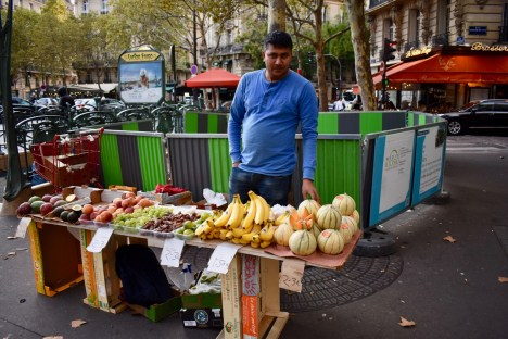 Small Fruit Stand Vendor