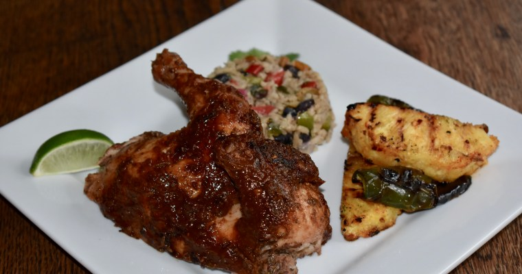 Grilling at Glover Gardens: Spicy Jerk Game Hens