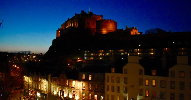 Edinburgh Castle and Indigo Sky
