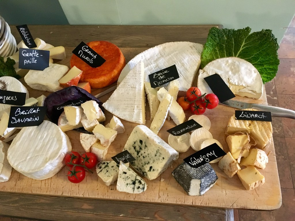 A sumptuous cheese board