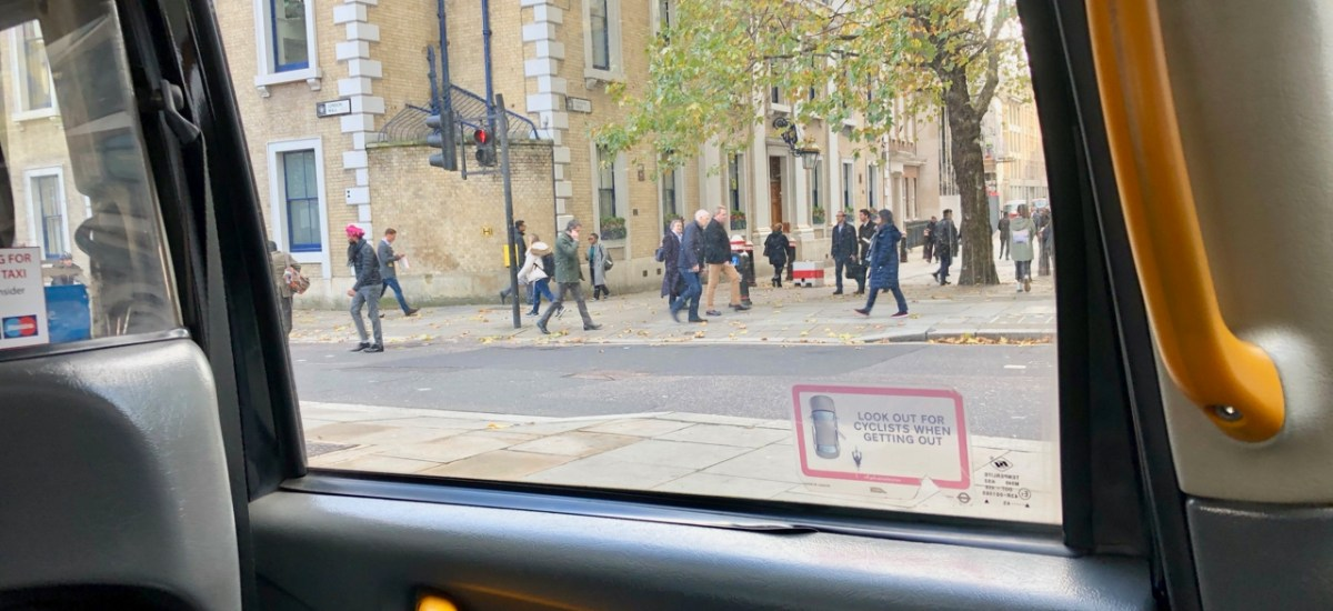 What the Car Saw: London Taxi Version (People on Phones)