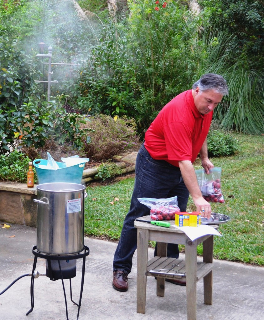 The Grill-Meister of Glover Gardens and the seafood boiling pot