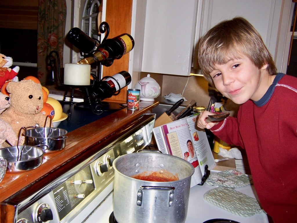 Little Boy Tasting Red Sauce