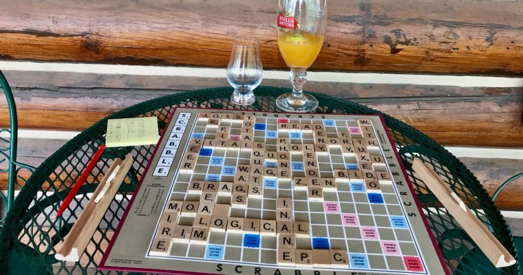 Scrabble is the Bomb on a Rainy Mountain Afternoon