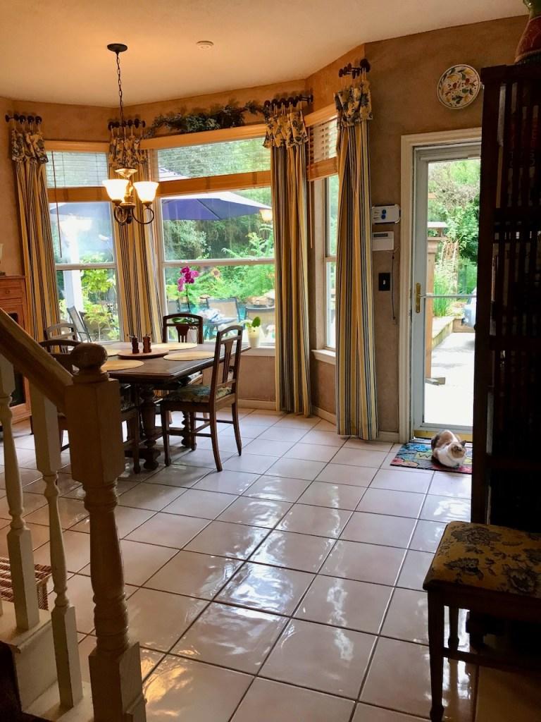Glover Gardens Kitchen Transition to Breakfast Room