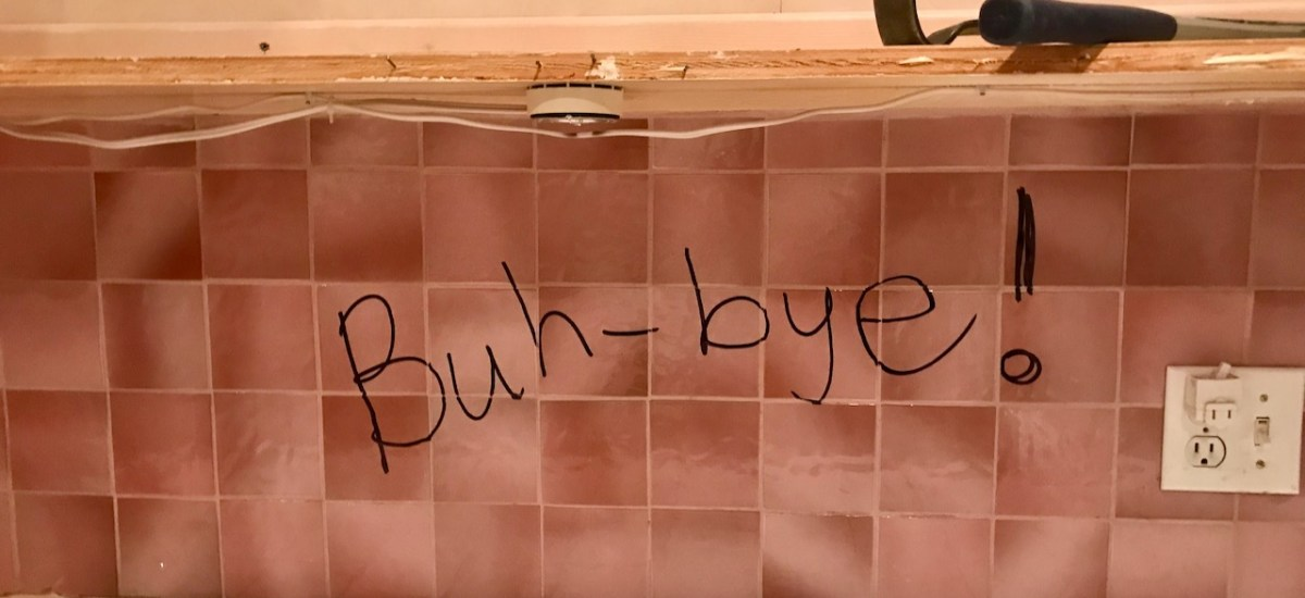 Goodbye, Pink-Tiled Galley Kitchen, Part 4: Parting Words and the Start of the Demo