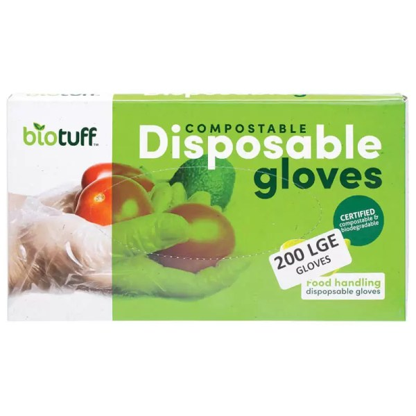 Gloves large biodegradable compostable by Gloves and Sanitisers