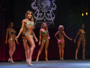 Deni Kirkova on stage at Miss Galaxy Universe - Bikini Girls Diary (by Lowell M. / Galaxy Universe Organisation)