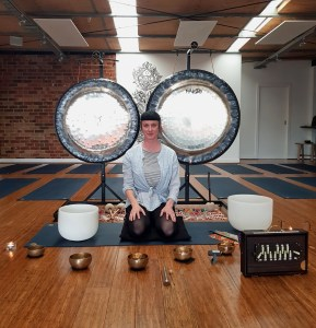 Mona Rujis Westside Yoga sound bath