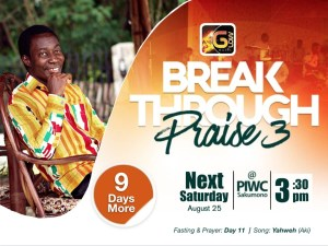 Aki invites you to Breakthrough Praise 3 with 9 more days to go