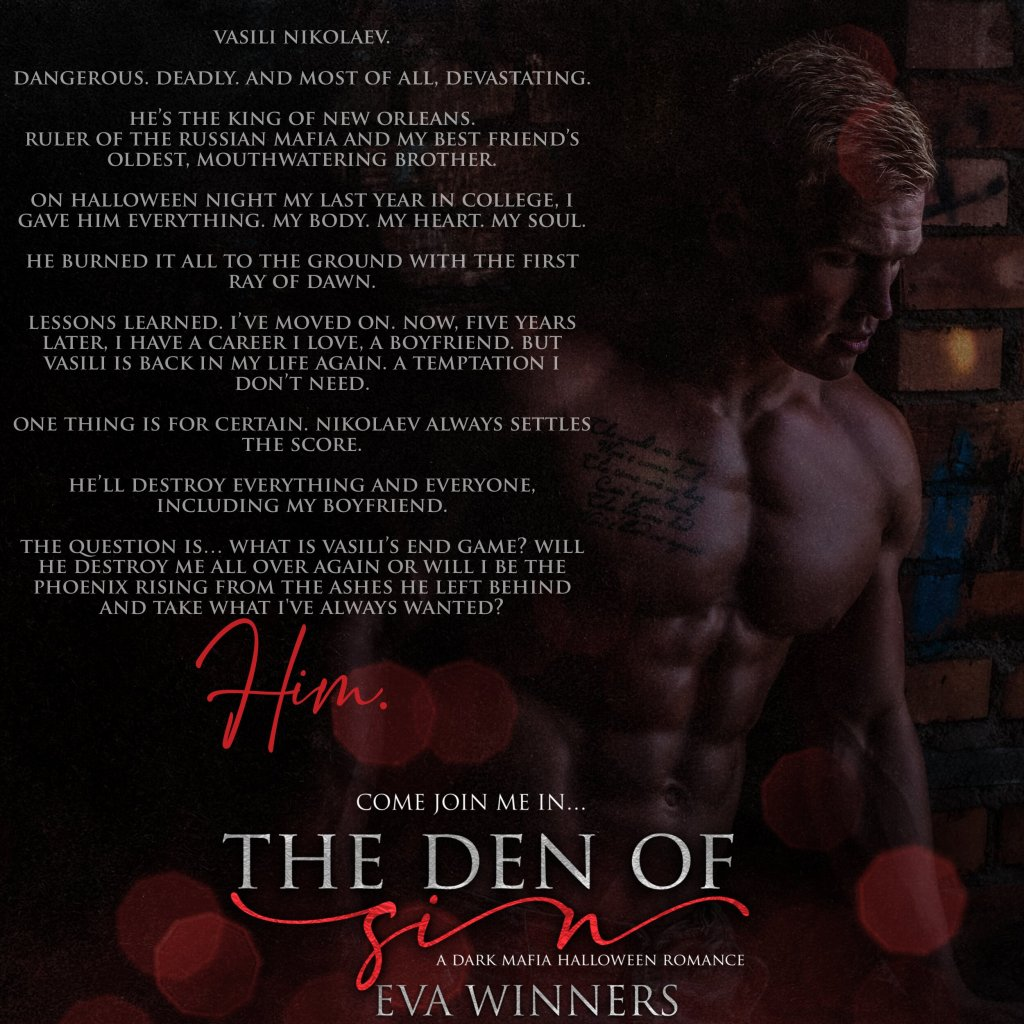 Full Wrap Book Cover: The Den of Sin by Eva Winners