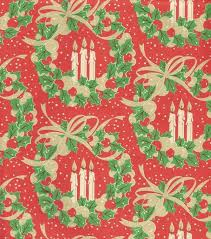 vintage Woolworths wreath wrapping paper