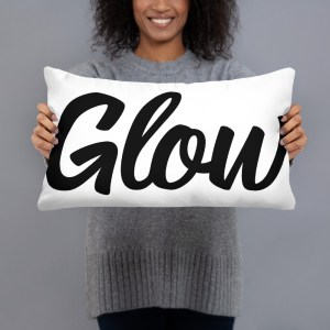 glow home accent pillow