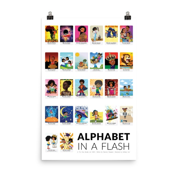 african american flash card poster print only