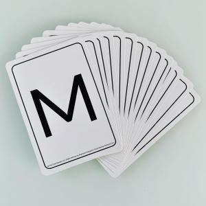 ABC flashcards back M letter