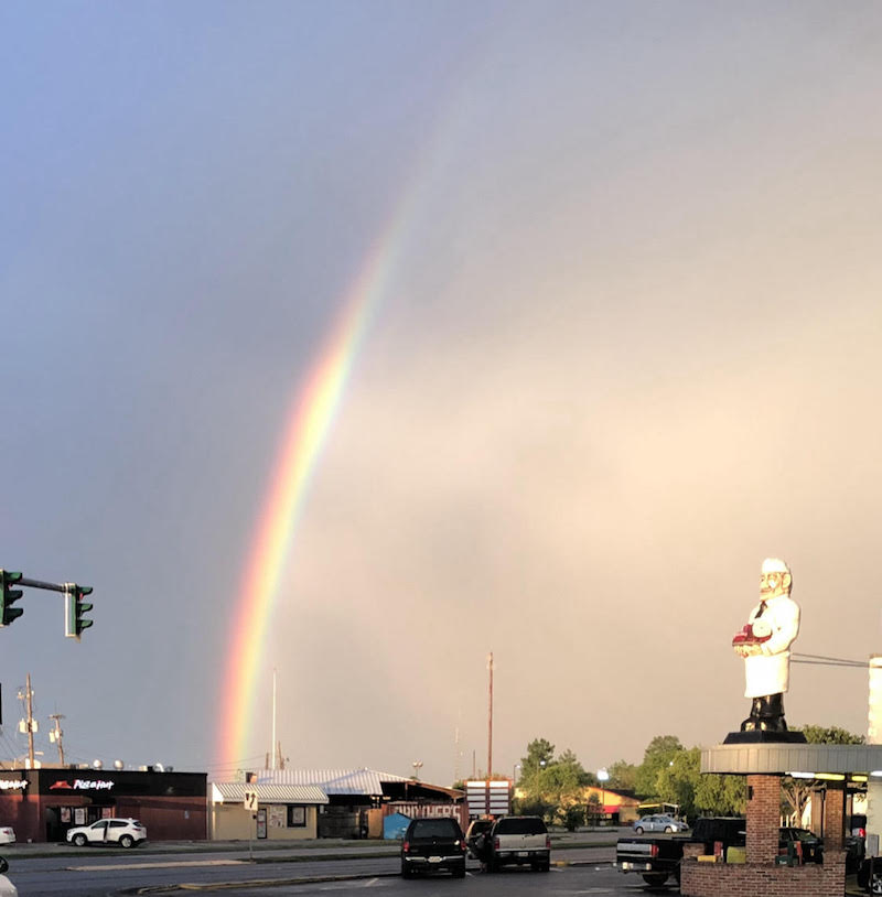 rainbow after a storm