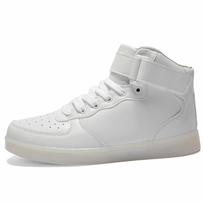 cdeac5f07a7e Astro White – High Top LED Shoes