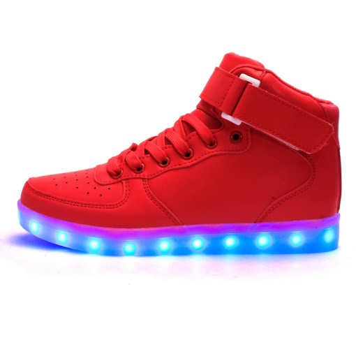 Astro Red – High Top LED Shoes